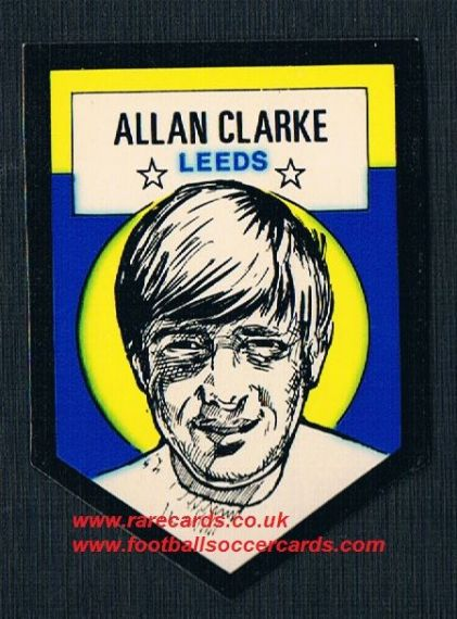 1972 BAB unused Shooting Stars Alan Clarke Leeds United  with backing paper